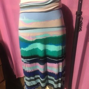 17 Hill striped skirt